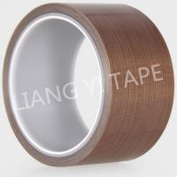 Buy cheap Brown Silicone PTFE Adhesive Tape , High Temperature Resist Teflon Adhesive Tape from wholesalers