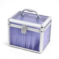 Wholesale Purple Acrylic Transparent Box Beauty CD Vanity Case Portable Tool Storage from china suppliers