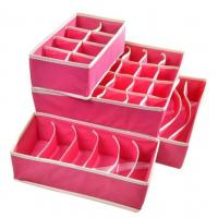 Buy cheap Drawer Dividers Closet Organizers Bra Underwear Storage Boxes (Hot Pink,Set of 4) from wholesalers
