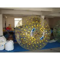 Yellow Dots Zorb Ball Sport of Rolling Down A Hill Manufactures