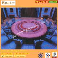 (BK0109-0016T)Fantastic and Mysterious Royal Purple Imperial Round Dinning Table, Noble Sapphire Blue 12 Chairs, Superb Manufactures