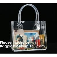 Buy cheap Thick Clear PVC Handbag With Tube Handles,Cosmetic/ Makeup/ Toiletry Clear PVC Travel Wash Bag with handle, Bagease from wholesalers