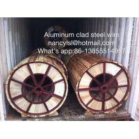 Wholesale High Carbon Aluminium Clad Steel Wire Single Acs Lightning Protection Wire for Opgw Optical Fiber Composite Overhead Gro from china suppliers