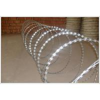 Buy cheap HDG Or Pvc BTO22/CBT65/CBT60 Concertina Razor Barbed Wire WIth Single Coil and Cross Type from wholesalers