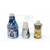 Buy cheap Recyclable Polyolefin Shrink Film Roll , Colored Shrink Bands on Drink Bottle 40 Mic from wholesalers