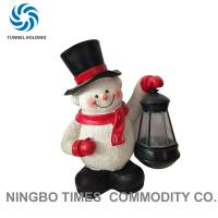 Buy cheap Holiday Resin Snowman Solar Lights , Solar Powered Garden Gnome Lights from wholesalers