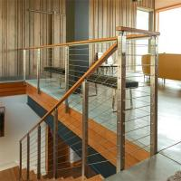 Buy cheap Steel Post Supports Stainless Steel Balustrade Posts for Wire Railing System from wholesalers