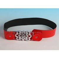 Buy cheap Cheap Female Fashion Beaded buckle Red Leather Belts from wholesalers
