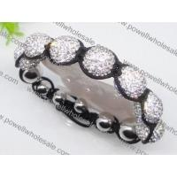 Buy cheap Adjustable size & newest style DIY Shamballa beaded bracelets in white stone 1760015 from wholesalers