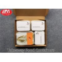 Wholesale Recyclable Aluminium Foil Takeaway Food Containers Safe Material 4 Compartments from china suppliers