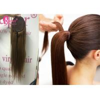 Buy cheap Single Donor Wrap Around Drawstring Ponytail Extension Human Hair 10 To 30 Inch from wholesalers
