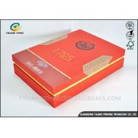 Red Luxury Convenient Packaging Cardboard Gift Boxes With Lid For Tea