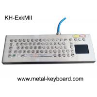 Buy cheap Explosion Proof Stainless Steel Keypad , Industrial Pc Keyboard With Touchpad from wholesalers