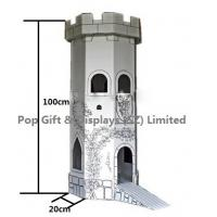 Buy cheap Child Train Cardboard Castle Corrugated Cardboard Furniture CMYK Color from wholesalers