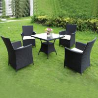 China Outdoor Home furniture Wicker dining table and chairs Garden Plastic Rattan Furniture on sale