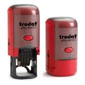 Buy cheap Red, Black and Blue Trodat round self inking date stamps, Teacher stamps, Direct sale stamps from wholesalers