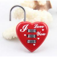 Wholesale 3 digit Combination Padlock Password Padlocks Heart Shape coded Lock Luggage Locks CR-28B from china suppliers