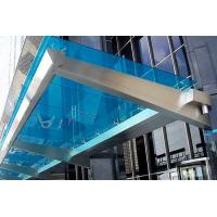 Buy cheap Customized Color Commercial Steel Awnings , Windproof Glass And Steel Awnings Anti Yellowing from wholesalers