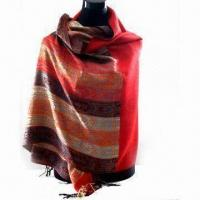 Wholesale Scarf, Available in Various Designs, Weighs 180g, Made of 45% Acrylic and 55% Polyester from china suppliers