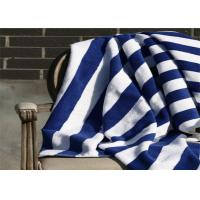 Buy cheap 100% Cotton Blue & White Color Hotel Stripe Beach Towel With 80*160CM from wholesalers