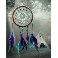 China Antique Imitation Dreamcatcher Gift checking Dream Catcher Net With natural stone Feathers Wall Hanging Decoration Ornam on sale