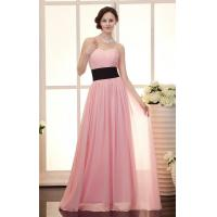 Buy cheap Chic Mature Slim Long Evening Party Dresses with Black Sash for Formal Parties from wholesalers