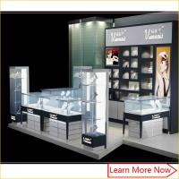 Buy cheap Customized high quality commercial jewelry trade show booth display Kiosk with led spot lights from wholesalers