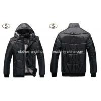 Buy cheap Men′s Coat with Hat Fashion Outerwear Winter Warm Overcoat New Design from wholesalers