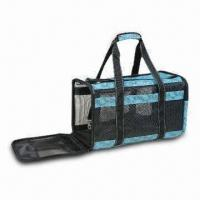 Wholesale Visible Pet Carrier with Double Zipper Openings from china suppliers