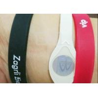 Buy cheap Customize Promotional Rubber Bracelets , Printed Silicone Wristbands Ultra Resistant from wholesalers