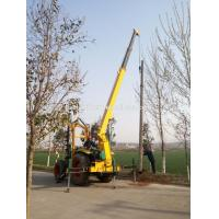 Buy cheap High Power Pit Making & Pole Erection Machine with tractor earth drill from wholesalers