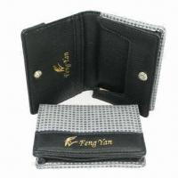 Wholesale Business Card Cases with PU Leather, Customized Designs, Logos and Sizes Welcomed from china suppliers