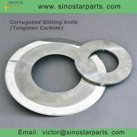 Buy cheap tungsten carbide corrugated slitting knife from wholesalers