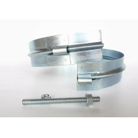 Buy cheap 300MM Heavy Duty Pipe Clamps Round ring Duct Fittings Wide singe bolt pipe Clamp from wholesalers