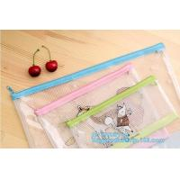 Buy cheap zipper PVC file bag with ESD anti static function A4, printing pvc document bag/ mesh/ soft bag, high temperature resist from wholesalers