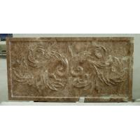 Wholesale 3d natural light emperador sculptural stone feature wall tile from china suppliers