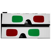 Buy cheap Customized Plastic Circular Frame Resin Lens Anaglyphic Red + Green 3D Glasses for women from wholesalers