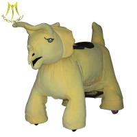 Buy cheap Hansel plush electrical animal toy car and electric coin operated animal ride with motorized plush riding animals from wholesalers