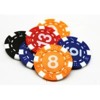 Buy cheap Multi Color Board Game Accessories / Blue Yellow PS ABS Plastic Poker Chip 40*3.3mm from wholesalers