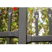 Buy cheap Powder coated horizontal steel garrison fence 2.1mx2.4m rail 40mm wall thick 2.00mm upright 25mm x 1.6mm wall thick from wholesalers