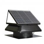 Buy cheap 30W 40W industrial solar power roof exhaust fan , 14 inch Axial flow air ventilation fan from wholesalers