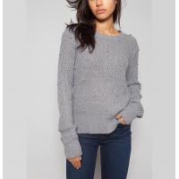 Buy cheap Grey / Berry Women'S Cable Knit Pullover Sweaters With Bubble Sweater Water Soluble from wholesalers