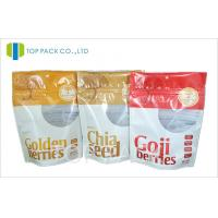 Customizable 100g / 200g Standup Pouches Aluminum Foil With Clear Window Manufactures