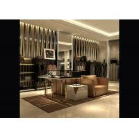 Buy cheap Brand Men's Retail Store Clothing Racks , Luxurious Metal Clothes Rack For Shopping Mall from wholesalers