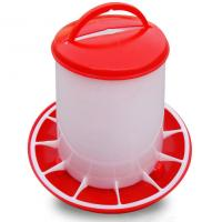 Buy cheap Red and yellow plastic chicken feeder for poultry farm chicken feeder product