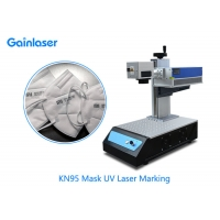 Buy cheap KN95 Mask UV Laser Marking Machine Portable Small Size for Non-woven Fabric , Textile , Leather from wholesalers