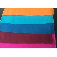 Wholesale Plain Style Merino Wool Fabric Melton Cloth Fabric For Suit , Orange Blue Red from china suppliers