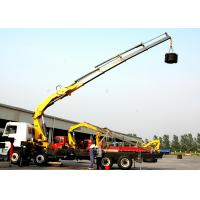 Buy cheap Effective 14 Ton Transportation XCMG Hydraulic Knuckle Boom Truck Mounted Crane from wholesalers
