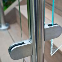 Buy cheap Frameless Glass Guard Deck Railing with Solid Clamps Made In China from wholesalers