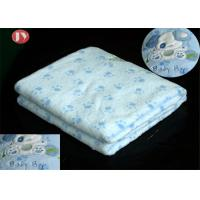 Buy cheap Custom Printing Pattern Swaddle Blanket BSCI Audit -print Cute Baby Flannel Fleece Blanket with Embroidery from wholesalers